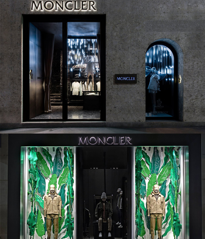 best website c996d e4e98 Moncler Windows da Milano a Londra - visiona