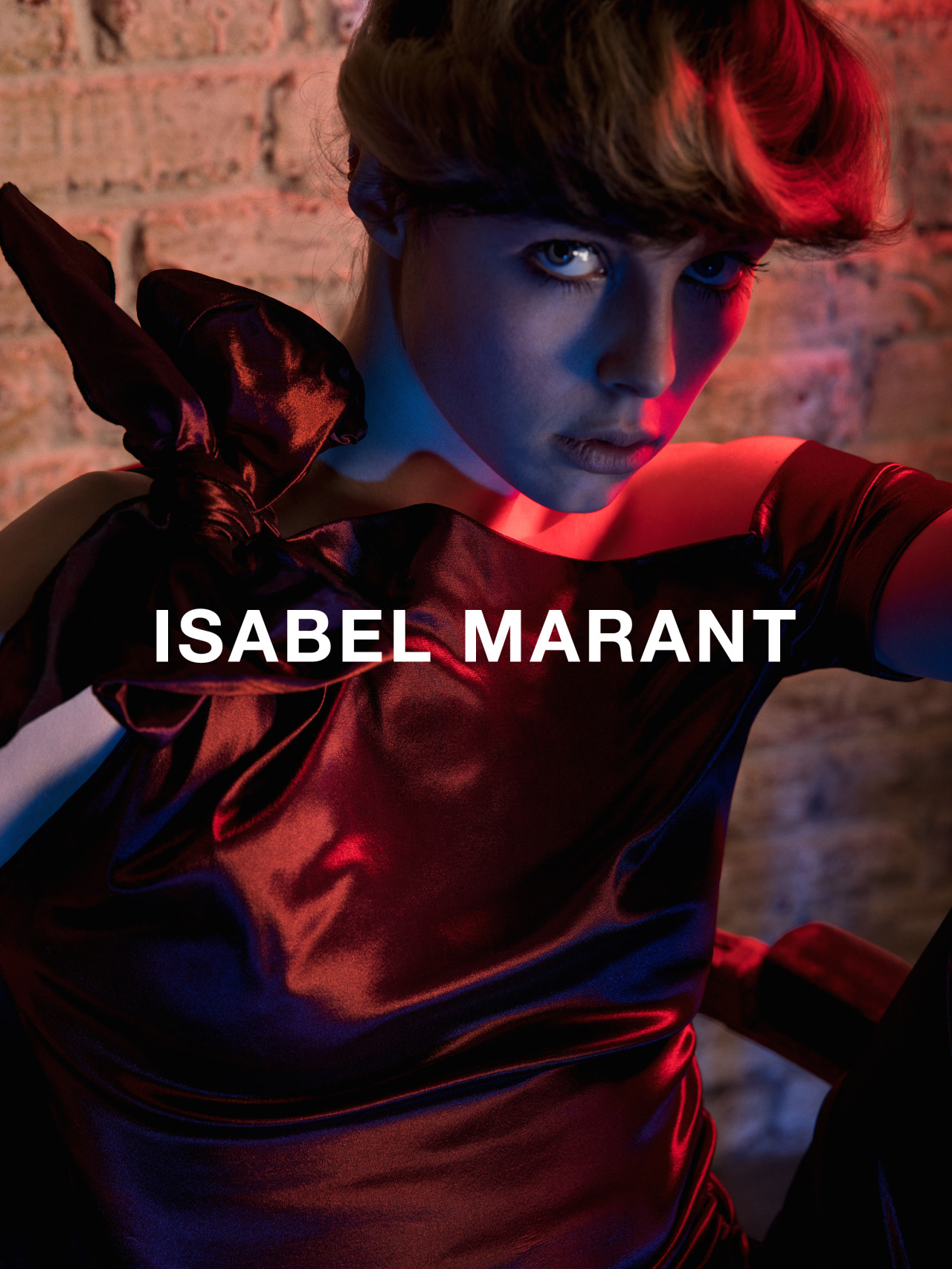 A visual from the Isabel Marant Fall 2016 ad campaign, featuring Edie Campbell.